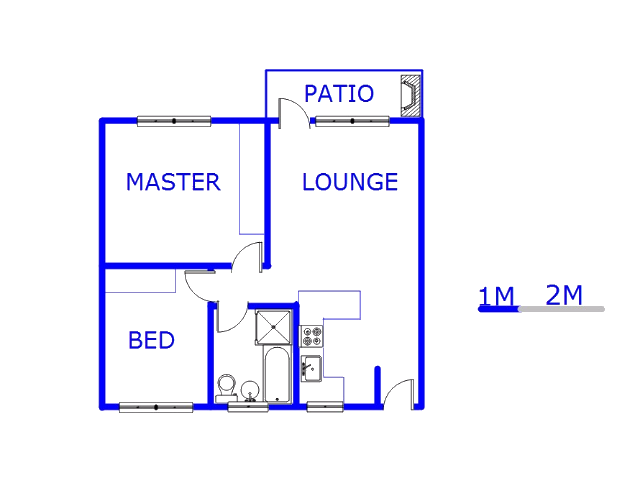 Floor plan of the property in Germiston South
