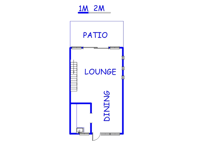 Floor plan of the property in Roseville