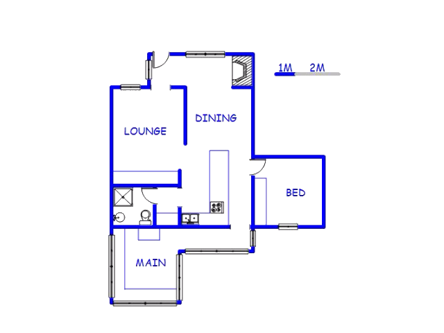 Floor plan of the property in Dwarskersbos