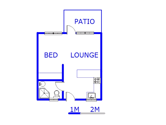 Floor plan of the property in Rivonia