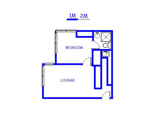 Floor plan of the property in Ballito