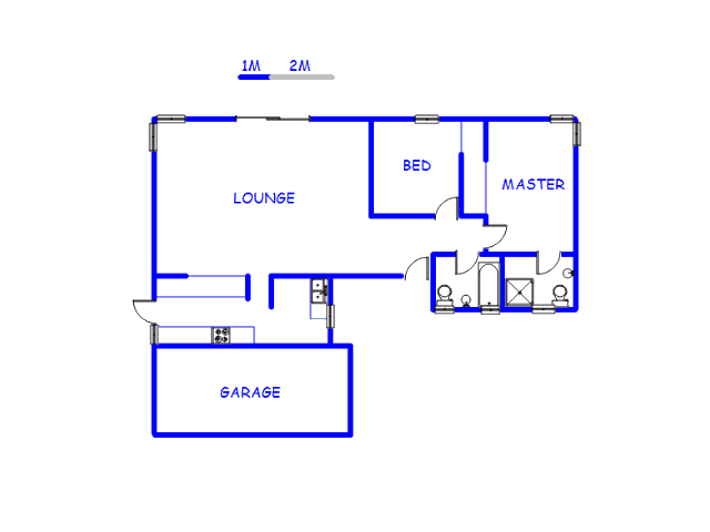 Floor plan of the property in Klipriviersberg Estate A.H.