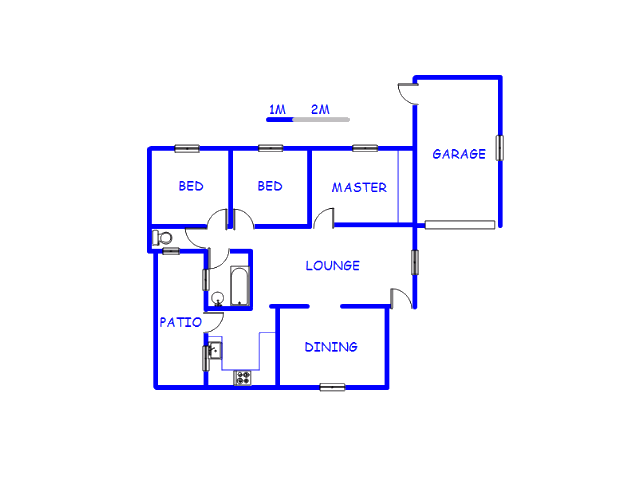 Floor plan of the property in Actonville