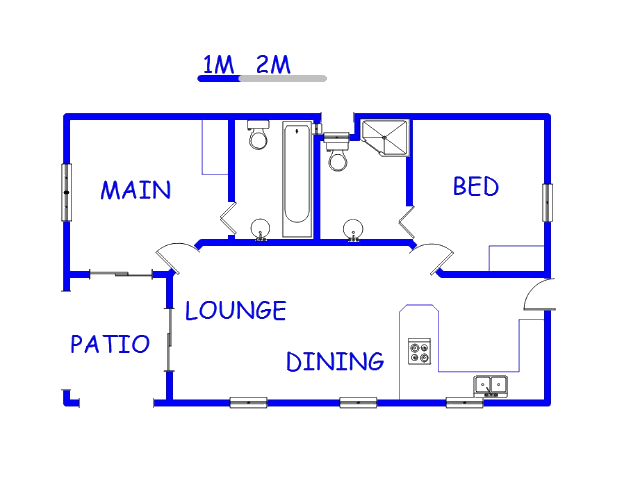 Floor plan of the property in Doringkloof
