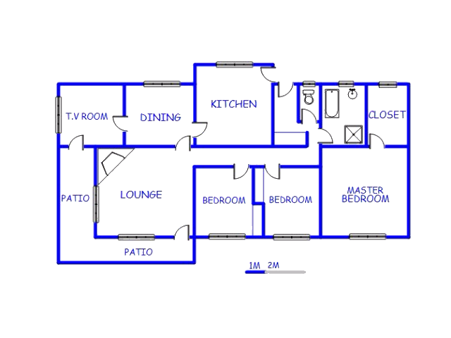 Floor plan of the property in Orkney