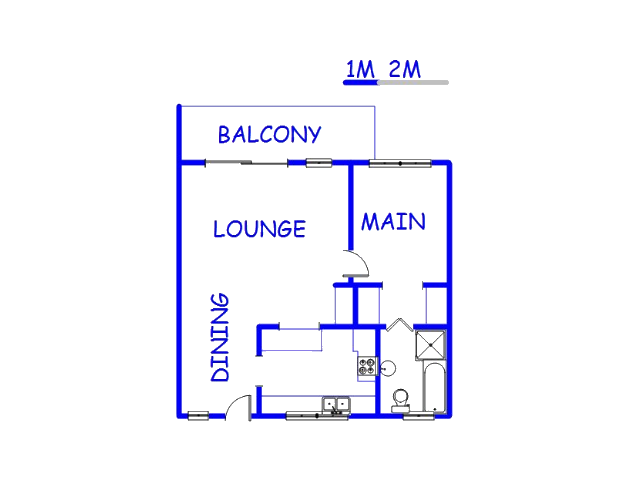 Floor plan of the property in La Montagne