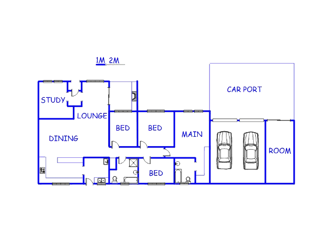Floor plan of the property in Riamarpark