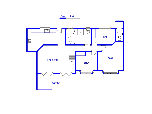 Floor plan of the property in Erasmuskloof