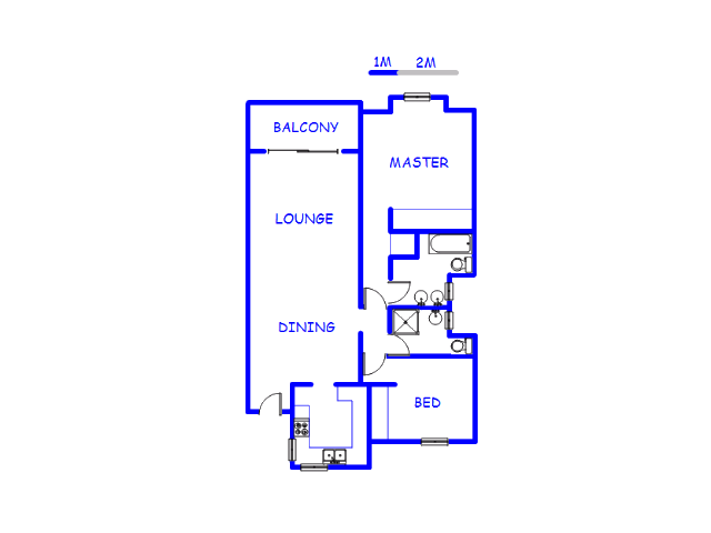 Floor plan of the property in Glenvista