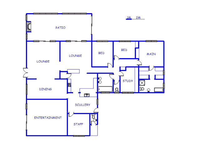Floor plan of the property in Menlo Park