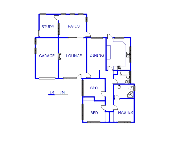 Floor plan of the property in Risiville