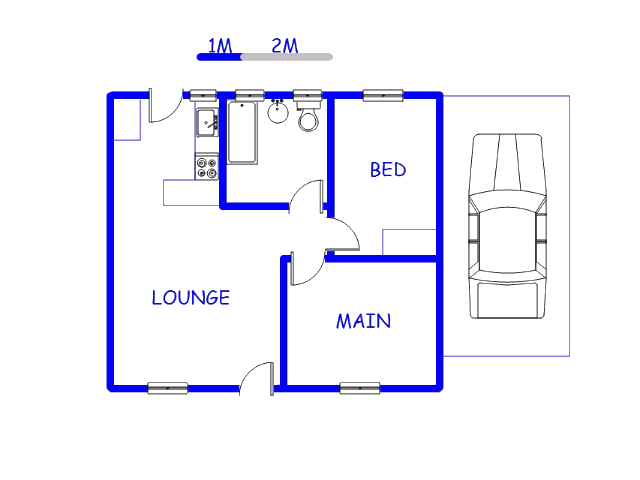 Floor plan of the property in Ermelo