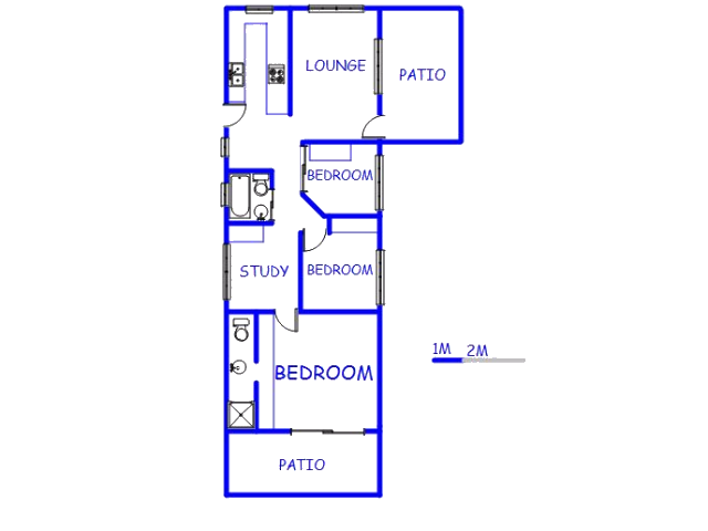 Floor plan of the property in Southgate - DBN