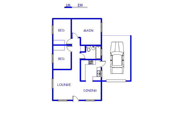 Floor plan of the property in Kuils River