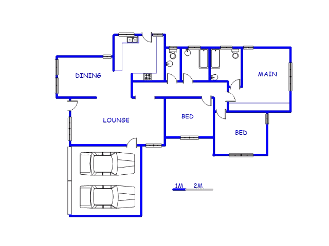 Floor plan of the property in Mahwelereng-A