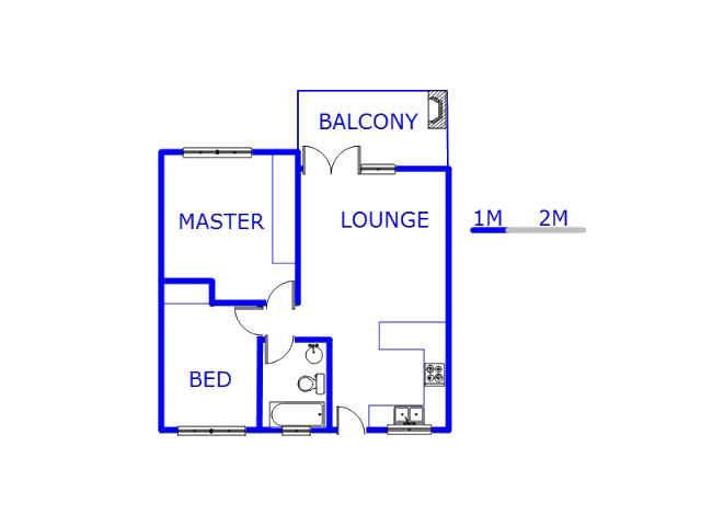Floor plan of the property in Modder East