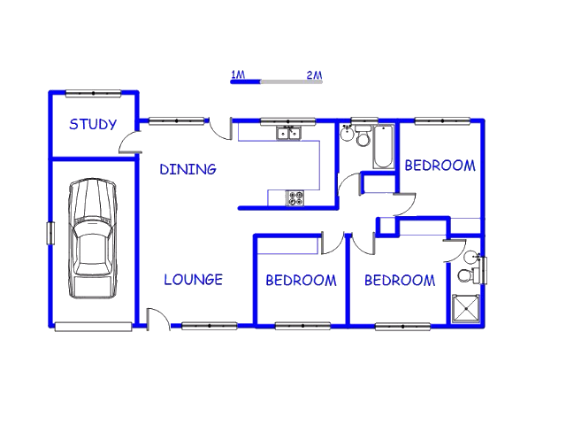 Floor plan of the property in Cato Ridge