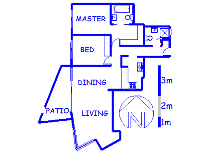 Floor plan of the property in Bloubergstrand