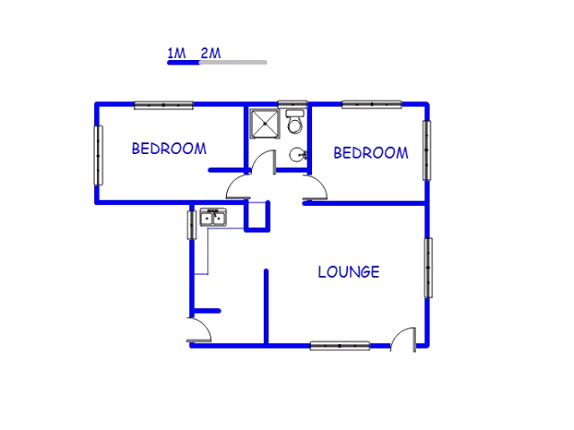 Floor plan of the property in Trafalgar