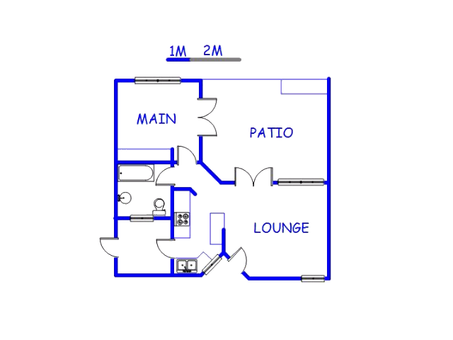 Floor plan of the property in Akasia