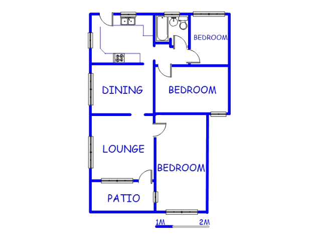 Floor plan of the property in Merebank East