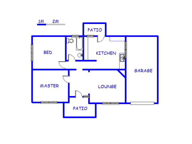 Floor plan of the property in Geduld
