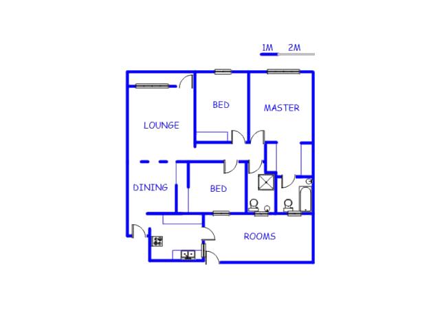 Floor plan of the property in Berton Park
