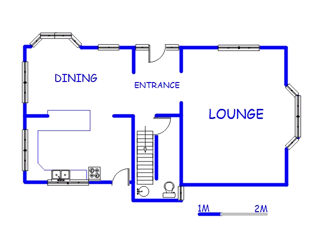 Floor plan of the property in Cato Manor