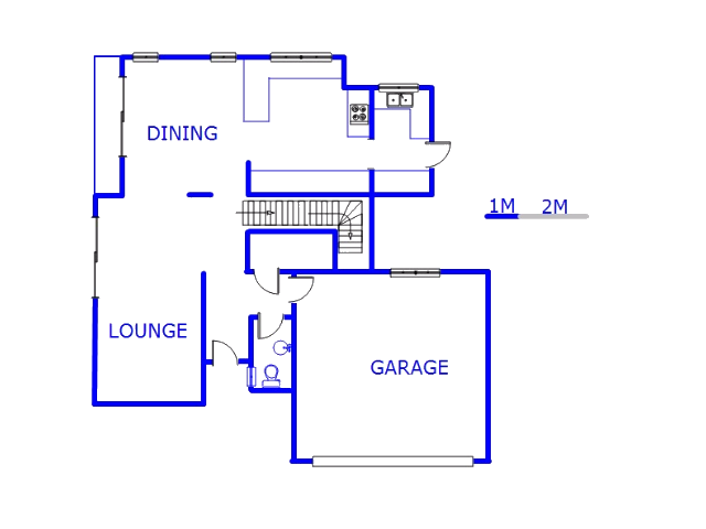 Floor plan of the property in Bedfordview