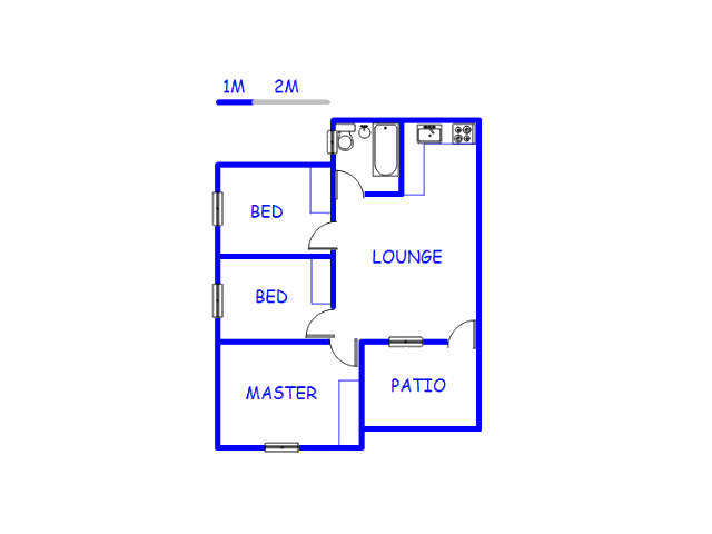 Floor plan of the property in Elspark