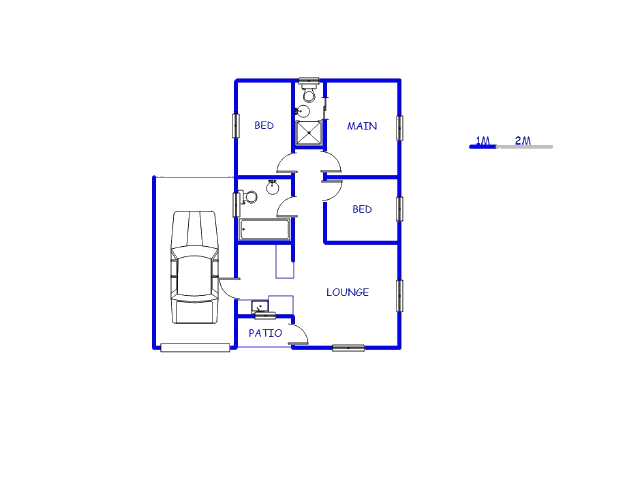 Floor plan of the property in Blackheath