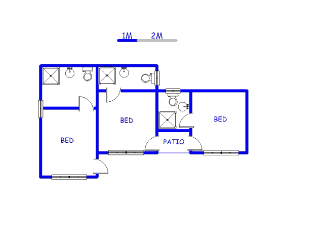 Floor plan of the property in Mabopane