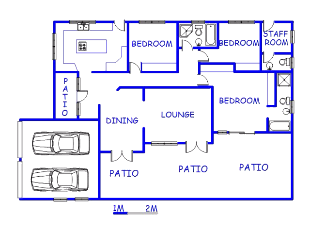 Floor plan of the property in Mtunzini