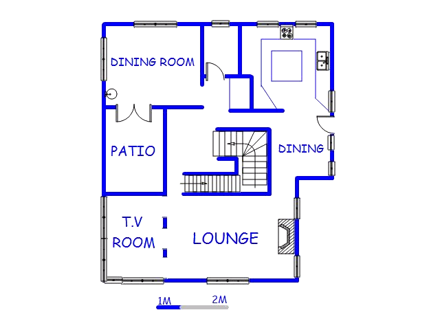 Floor plan of the property in Seaview