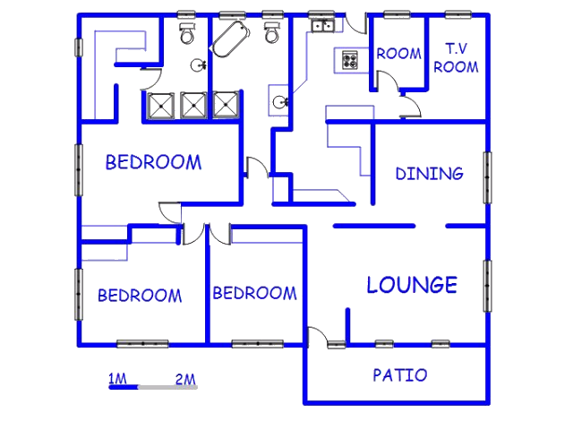Floor plan of the property in Queensburgh