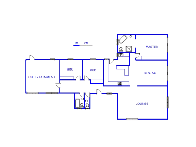 Floor plan of the property in Risana