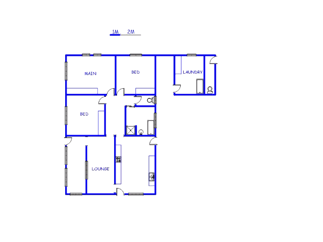 Floor plan of the property in Carolina