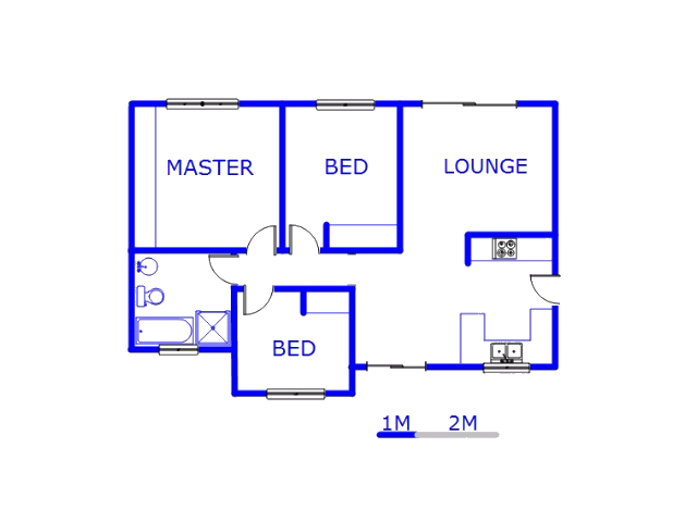 Floor plan of the property in Albertsdal