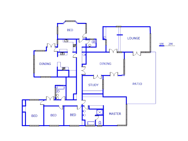 Floor plan of the property in Orchards