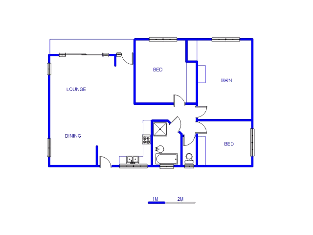 Floor plan of the property in Villieria