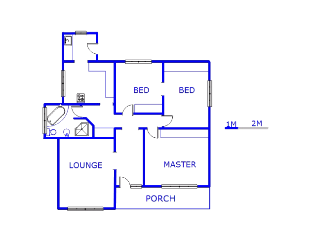 Floor plan of the property in Townsview
