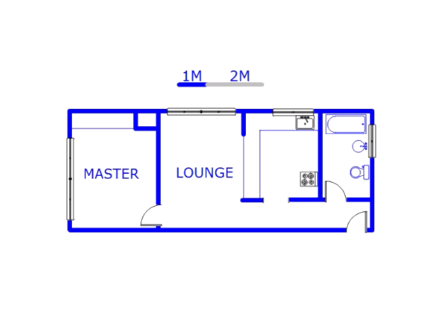 Floor plan of the property in Horison Park