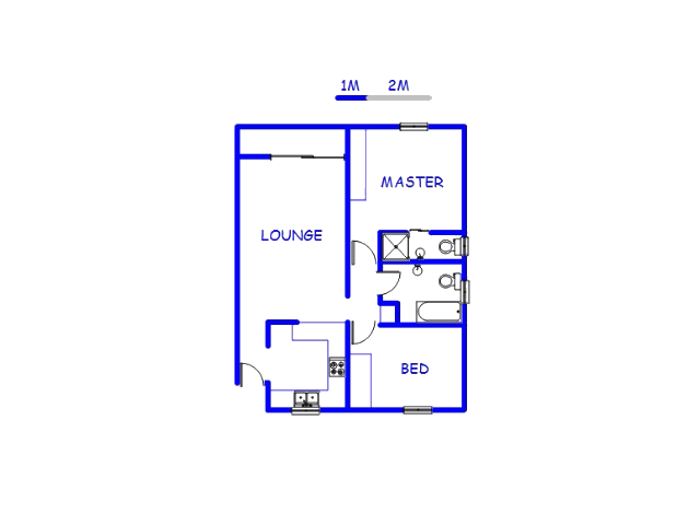 Floor plan of the property in Dalpark