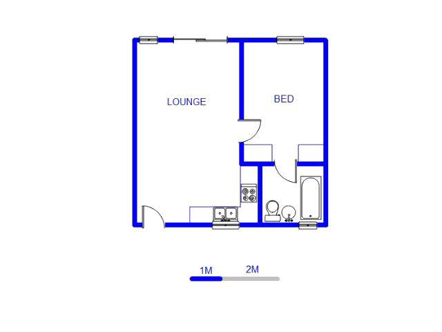 Floor plan of the property in Klippoortjie AH