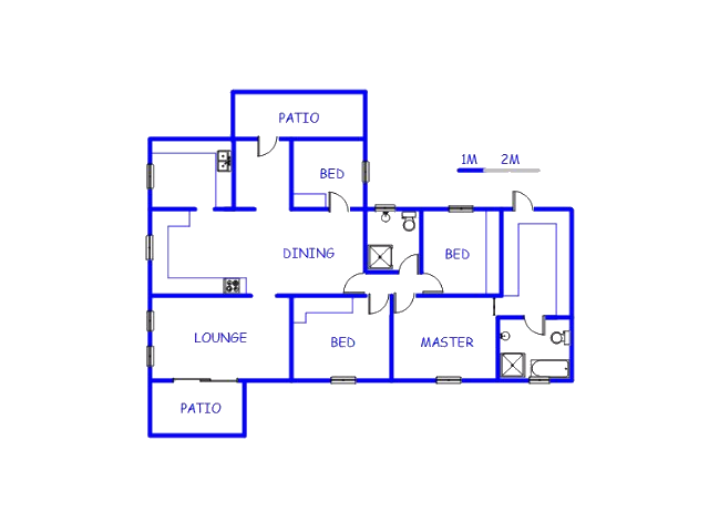 Floor plan of the property in Palm Ridge
