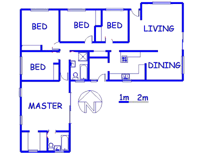 Floor plan of the property in Monument Park
