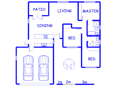 Floor plan of the property in Annlin
