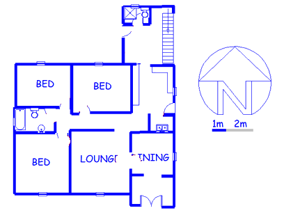 Floor plan of the property in Observatory - JHB