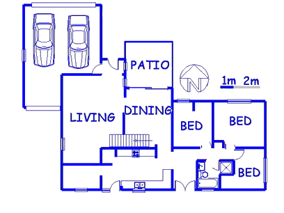 Floor plan of the property in Garsfontein