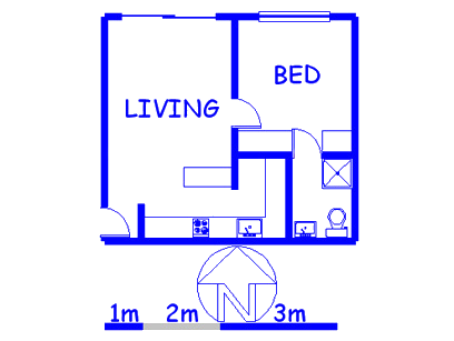 Floor plan of the property in Marshallstown